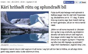 Frétt um veðrið 28. apríl 2015
