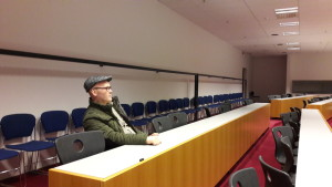 The conference hall. Professor Haraldur Ólafsson wondered where everyone was.